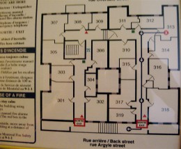 Floor plan for the 3rd floor.   Room 317 is the private room shown above.