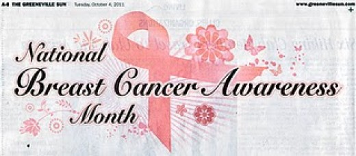Breast Cancer Awareness Month as posted by the Greeneville Sun in Greeneville TN on October 4, 2011