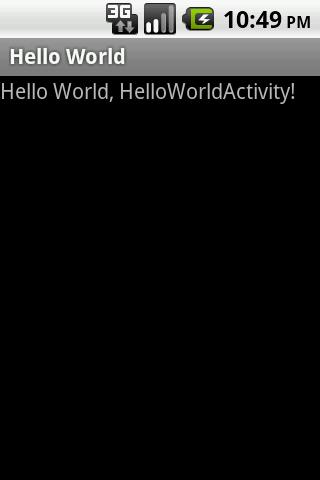 Hello World output