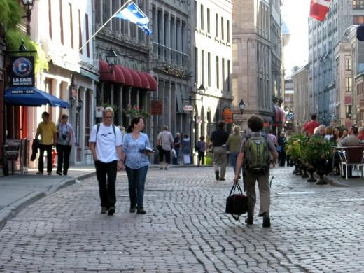 Pedestrian street near Jacques Cartier
