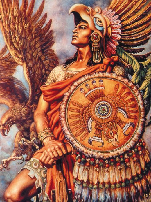 Aztec art: They believe the sun is coming to the end of its life