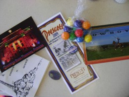 Buy a postcard, gum balls, and a book about plants