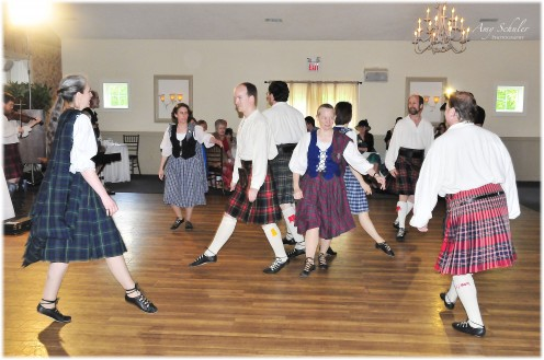 A local Scottish dance troupe entertained our guests during the first course of dinner