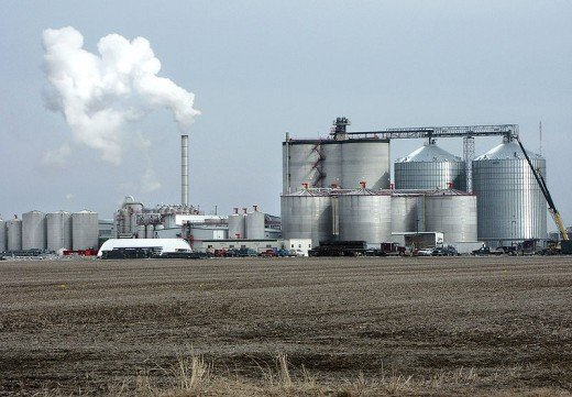 A typical ethanol plant in West Burlington, Iowa (Big River Resources, LLC).