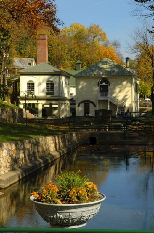 The Old Bathhouse, Berkeley Springs State Park, West Virginia.
