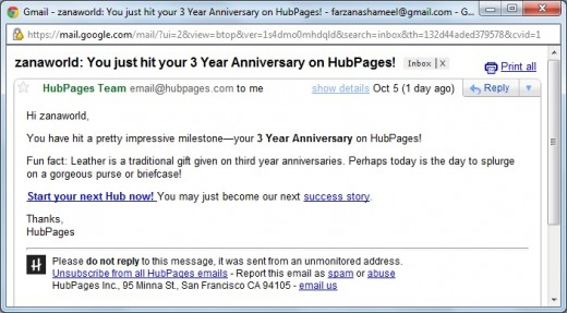 3-Years of relationship with HubPages!