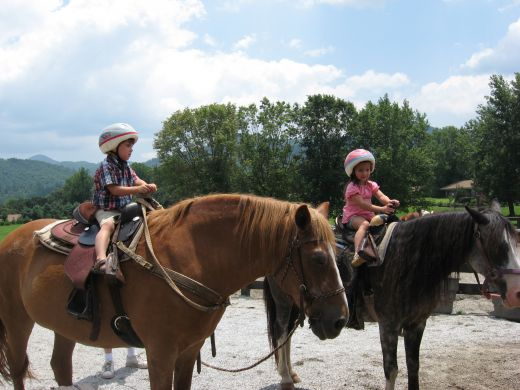 My grandkids enjoy trail riding.