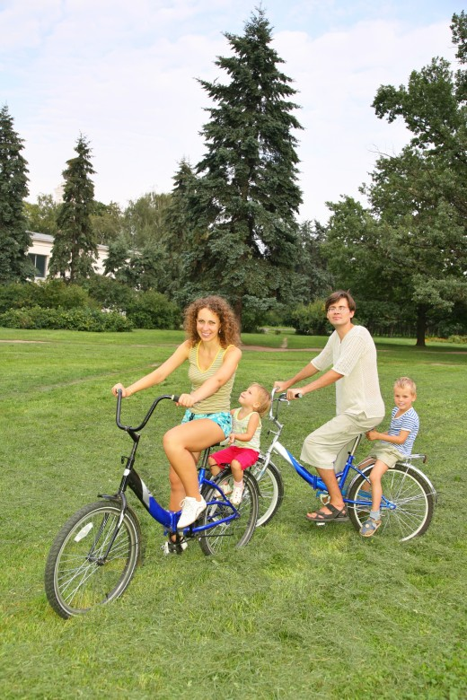 Bicycle Touring is a great activity for families and kids.