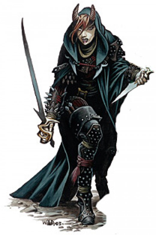 It's rare that I prefer 3E art to Pathfinder art, but I always liked this tiefling better.