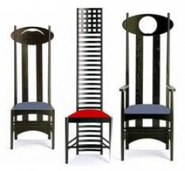 Charles Rennie Mackintosh Art Nouveau Style Chairs