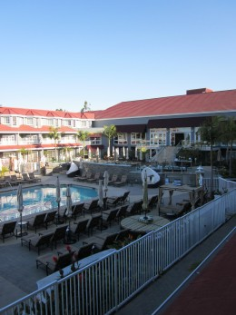 View of the pool at the Laguna Cliffs Marriott Resort in Dana Point.