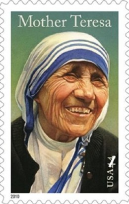 A US postage stamp on Mother Teressa