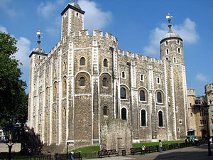 The White Tower, part of William's Tower of London as it is now, the result of centuries of continuous rebuilding