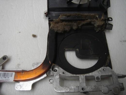 Dust clogging the vent