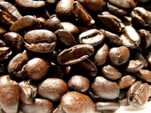 The darker the roast, the more oils will be on the outside of the beans.