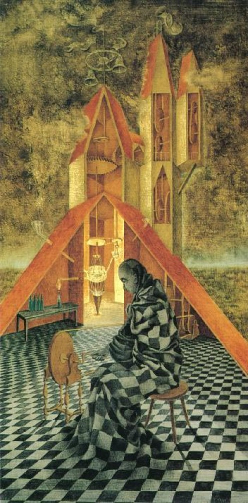The Alchemist by Remedios Varo, 1955.