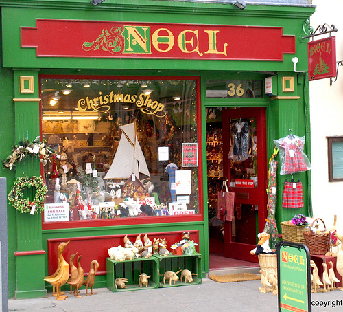 The Noel Christmas Shop is situated in one of Perth's up-market streets. Most of it's trade is internet based Many items are in the luxury bracket.