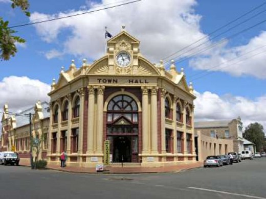 The Historic public hall in the main street
