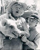 GRANDPA ZEB AND GRANDMA ESTHER, AND A FRIENDLY PIG.
