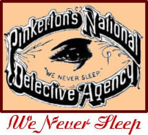 Logo of the Pinkerton's, a private detective agency that employed Dashiell Hammett from 1915 to February 1922.