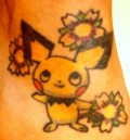 My foot ink- a Pokemon (pichu) ;)