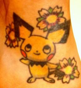 My foot ink- a Pokemon (pichu) ;)