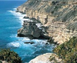 The coast along Kalbarri is full ov views like this, a great fishing spot if you take the time to get to it.