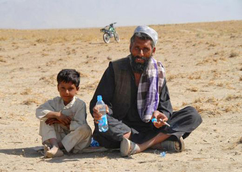 Father and son, Afghanistan.