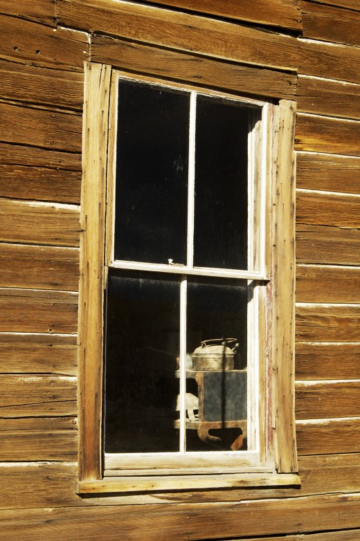 View Through a Ghost Town Window
