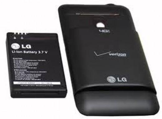 3000mAH LG Revolution Extended Life Battery