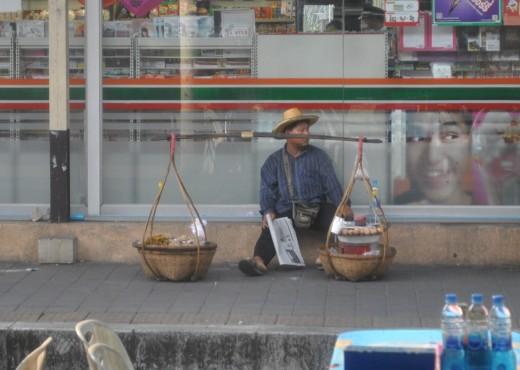 Food vendor on the railway station
