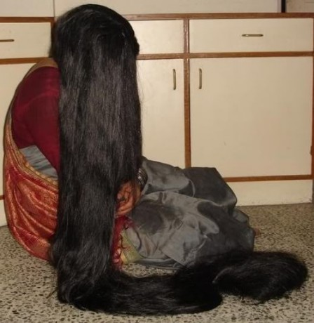 The Long Hair woman, in India