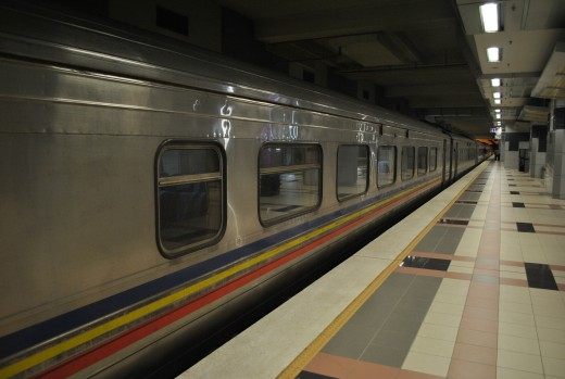 Our Malaysia to Singapore train.