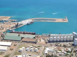 Geraldton Port from the air
