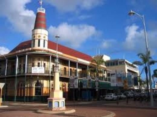 The Freemasons Hotel in the main streeet