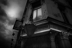 A suitably sombre photograph of the Ten Bells