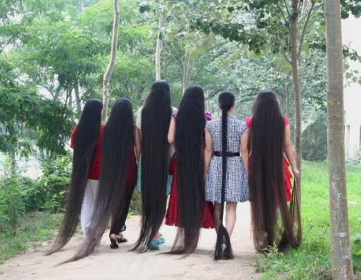 Long, long hair...
