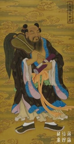 On of the Eight Immortals Zhong Liquan with his magical Feather fan