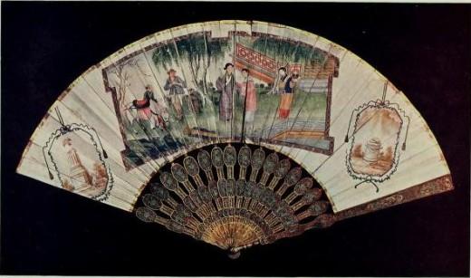 A beautiful Fan, picture taken from book History of fans, by Woolliscroft Rhead