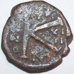 Half Follis Byzantine Coin