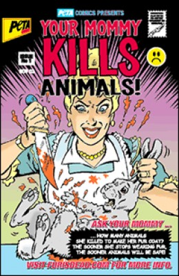 Cover of a comic book created by PETA as part of a media campaign.