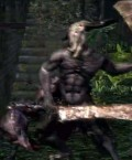 Dark Souls Defeating the Capra Demon and his Dogs
