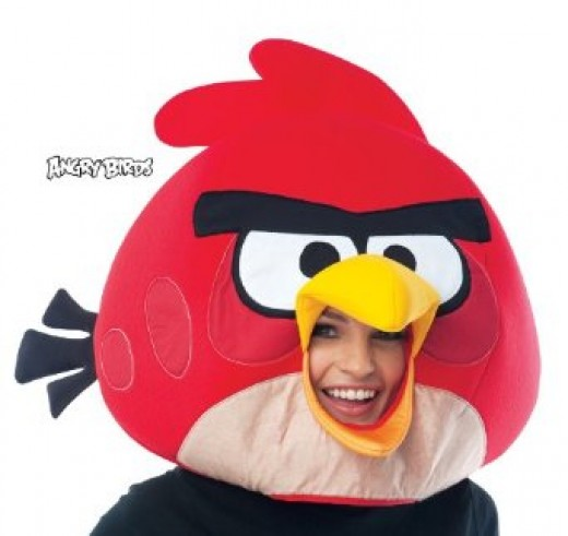 Get the Angry Birds Head Mask as shown below.