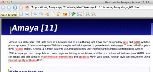 Amaya Welcome Page