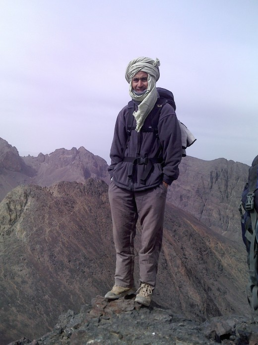 Mohammad prior to the final push to the top of Toubkal