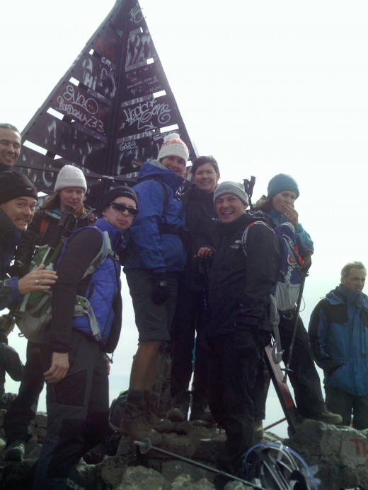 The group at the summit of Toubkal. Mission accomplished.