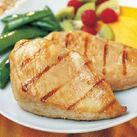 Lean white meat--enjoy grilled chicken breasts.