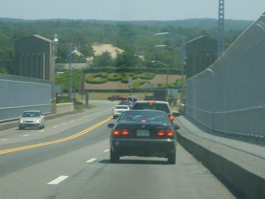 Just getting off the bridge into Cape Cod