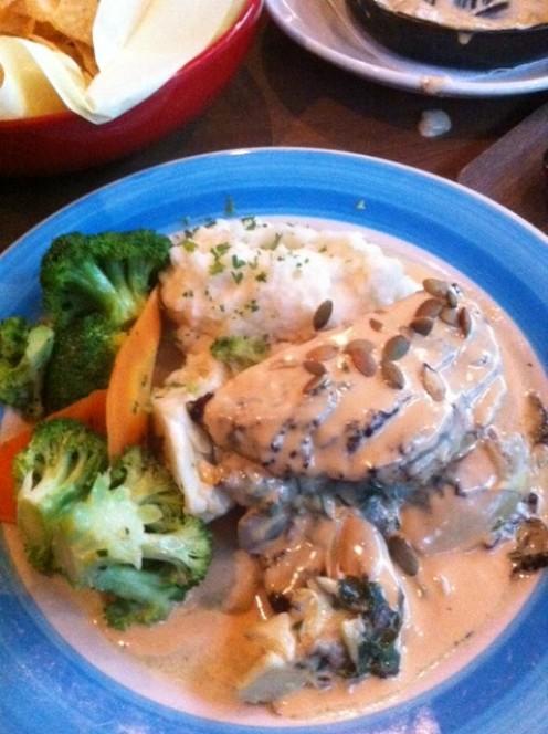 Chicken, Artichoke & Mushroom Stack