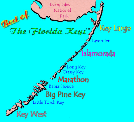 Here Is A Map Of The Florida Keys